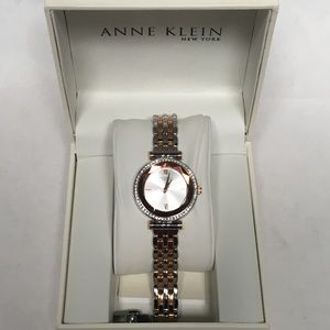 Anne Klein Two-Tone Swarovski Crystal Ladies Watch